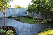 Paving stone patio, planting