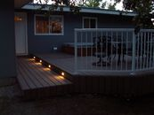 Composite deck with lighting