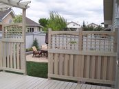 Cedar deck screen