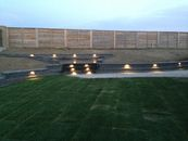 Retaining walls with lighting