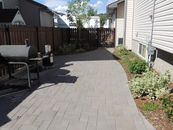 Paving stone patio and planting