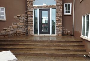 Paving stone stairs