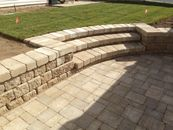 Retaining wall stairs
