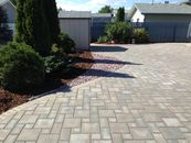 Paving stone patio