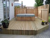 Wood deck with cedar screen